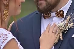 """Náušnice - Náušnice prírodné """"Svadba"""" - 11273243_"""