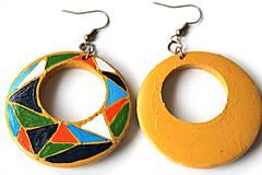 Náušnice - Kruhové náušnice - mozaika - 11271713_