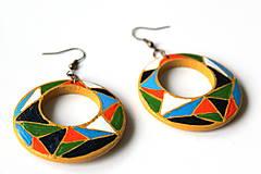 Náušnice - Kruhové náušnice - mozaika - 11271714_