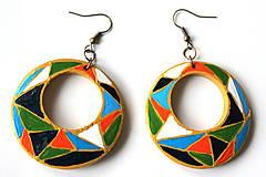 Náušnice - Kruhové náušnice - mozaika - 11271715_