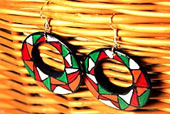 Náušnice - Kruhové náušnice - mozaika tmavšie - 11271718_