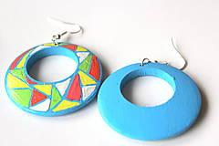 Náušnice - Kruhové náušnice - svieža mozaika - 11271720_