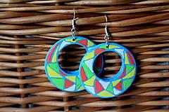 Náušnice - Kruhové náušnice - svieža mozaika - 11271721_