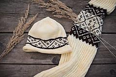 Detské súpravy - Set čiapka a šál - 11273160_