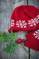 Detské súpravy - Červená karkulička- Set čiapka a šál - 11273249_