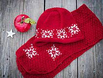 Detské súpravy - Červená karkulička- Set čiapka a šál - 11273250_