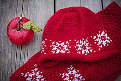 Detské súpravy - Červená karkulička- Set čiapka a šál - 11273252_
