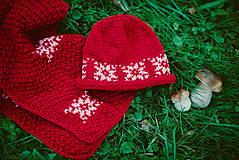 Detské súpravy - Červená karkulička- Set čiapka a šál - 11273255_