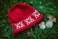 Detské súpravy - Červená karkulička- Set čiapka a šál - 11273257_