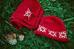 Detské súpravy - Červená karkulička- Set čiapka a šál - 11273258_
