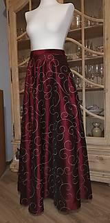 Sukne - Dlhá taftová sukňa - 11271733_