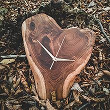 Hodiny - RAW - Akáciové drevené hodiny - 11273300_