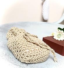 Úžitkový textil - Sieťka, vrecko na mydlo z Organic baby bavlny. - 11274024_