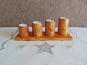 Svietidlá a sviečky - Adventný svietnik - 11274449_