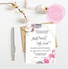 Papiernictvo - svadobné oznámenie 158 - 11274727_