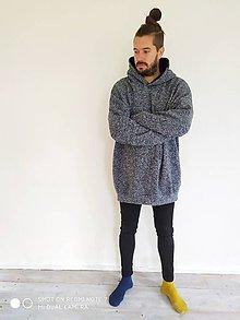 Oblečenie - #pánska melírová mikina# - 11273712_