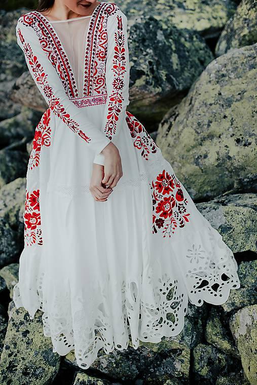 ivory madeirové dlhé šaty Poľana