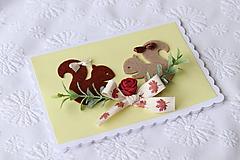 Papiernictvo - 3D pohľadnica -veveričky - 11273379_
