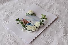 Papiernictvo - Zimná 3D pohľadnica-srnky - 11273534_