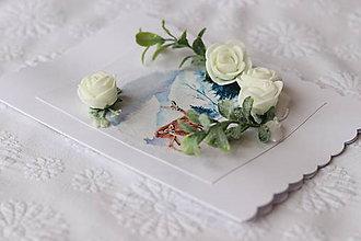 Papiernictvo - Zimná 3D pohľadnica-srnky - 11273533_