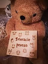Hračky - Drevené PEXESO - zvieratka - 11271757_