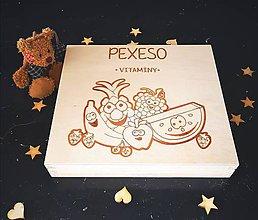 Hračky - Drevené PEXESO - vitamíny - 11271831_