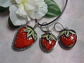 Sady šperkov - keramika ..prívesok s náušničkami.. - 11274540_