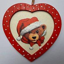 Obrázky - Srdiečko - Vianočný medvedík - 11273770_