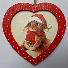 Obrázky - Srdiečko - Vianočný zajačik - 11273787_