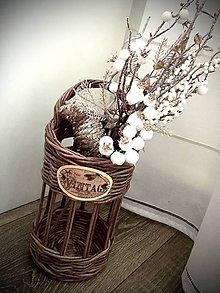 Dekorácie - Váza / svietnik - 11273846_