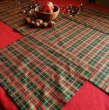 Úžitkový textil - Vianočné prestieranie (Zeleno-červeno-zlaté) - 11271822_