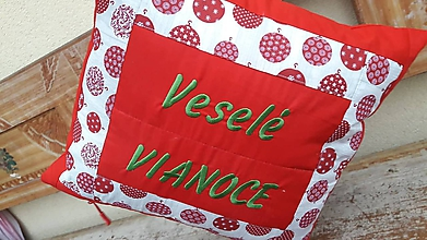 Úžitkový textil - veselé Vianoce - 11275338_