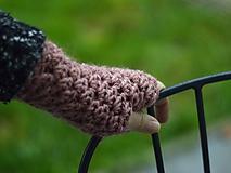 Bezprstové rukavice s alpakou: púdrová ružová