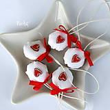 Dekorácie - Vianočné oriešky, srdiečko - 11278152_