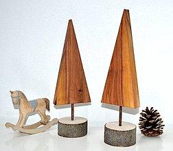 Dekorácie - Drevené stromčeky-sada - 11276457_