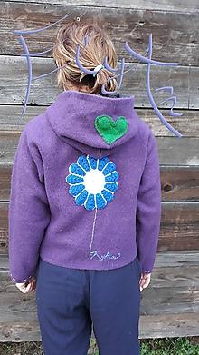 Kabáty - Vlnený kabátik fialka - 11278060_
