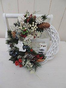 Dekorácie - Vianočný veniec so sovou - 11275974_