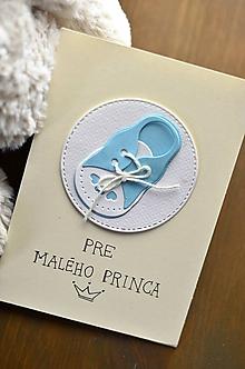 Papiernictvo - Topánočky pre princa/princeznú - 11278627_