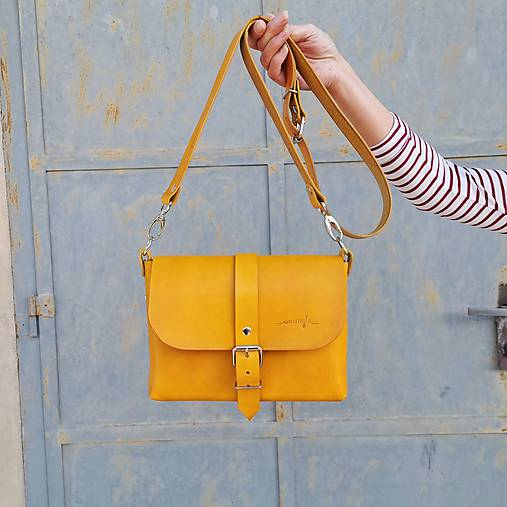 Kožená kabelka Hanna (žltá)