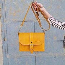 Kabelky - Kožená kabelka Hanna (žltá) - 11275856_