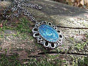 Náhrdelníky - Kráľovská modrá - náhrdelník - 11276454_