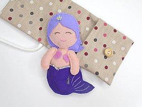 Hračky - Drobnosti v kapsičke pre dievčatá (Morská víla: fialová) - 11276868_
