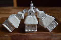 Dekorácie - Biele veľké kostolíky - 11277555_