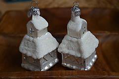 Dekorácie - Biele veľké kostolíky - 11277578_
