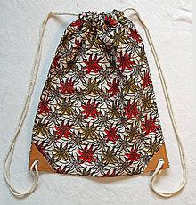 Batohy - Mestský batoh kaktusové kvety - 11278666_