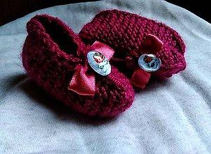 Topánočky - Detské pletené papučky - anjel - 11275087_