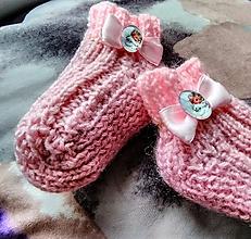 Topánočky - Detské pletené ponožky - anjel - 11275187_