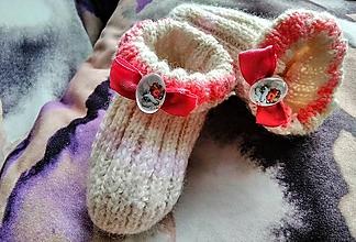 Topánočky - Detské pletené ponožky - anjel - 11275296_