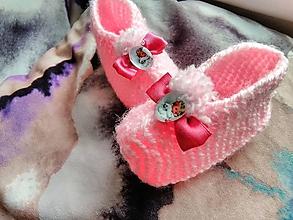 Topánočky - Detské pletené papučky - anjel - 11275405_