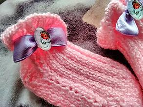 Topánočky - Detské pletené ponožky - anjel - 11275594_